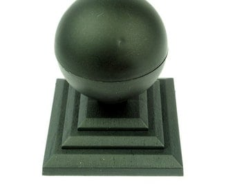 """Linic UK Made Round Sphere Top Fence Finial x 8 & 4"""" Fence Post Caps. (GT0035) Free UK Postage"""