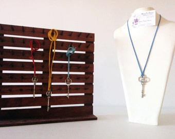 Leather necklace with pendant of your choice