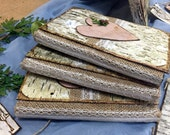 Personalized Eco-Friendly Birch Bark Wedding Guestbook/Journal