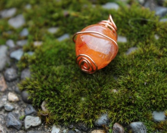 Martian Inspired Carnelian-Copper Wrap