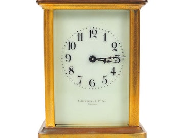 Stowell & co. Antique Brass Carriage Clock