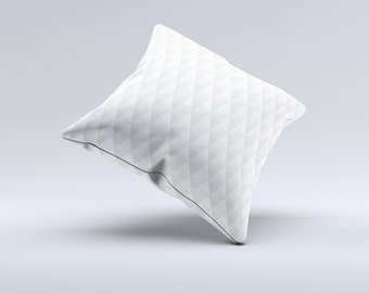 White Studded Seamless Pattern ink-Fuzed Decorative Throw Pillow