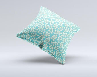 TheBlue and Yellow Floral Pattern V43 Pillow ink-Fuzed Decorative Throw Pillow