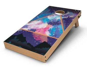 Trilateral Eternal Space - Cornhole Board Skin Kit