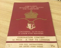 Vintage 1930s British Royal Family Coronation Transfers for Embroidery