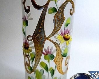 Antique museum Kreszentia glass, around 1880 individual pieces, hand painting