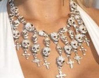 Gioachino Trentino brilliant Designer Skull Collier necklace