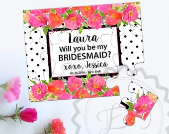 Will You Be My Bridesmaid Puzzle Proposal Gift Idea, Bride Tribe,Personalized Jigsaw Puzzle Proposal , Maid of Honor Gift, Be my Bridesmaid
