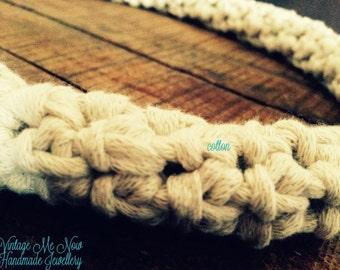 Handmade cotton necklace