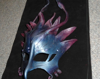 Night phoenix, dragon, gryphon leather mask - this one available now