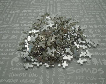 100pcs antique silver color metal cross bead charm , 11x7mm , CP1108