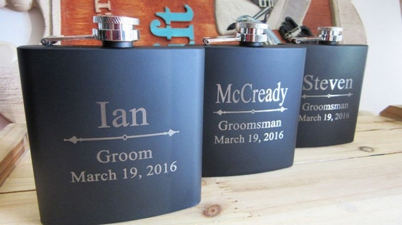 Wedding Party Flasks, Great Groomsman Gifts, Unique Bridesmaid Gifts ...