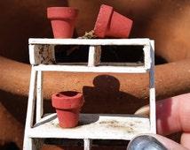 Miniature & Fairy Garden Miniature, pallet style handmade garden poting stand