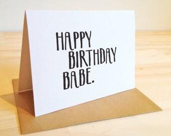 CARD Happy Birthday Babe
