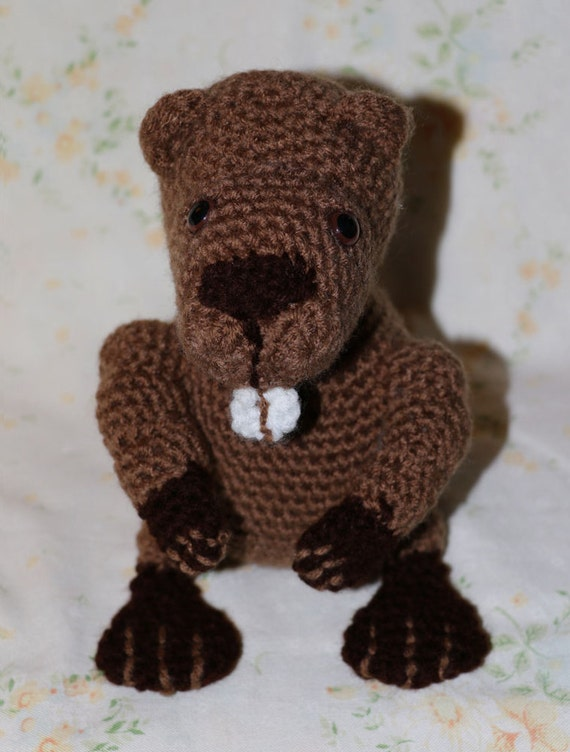 Beaver Handmade Amigurumi Crochet Beaver