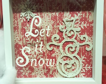 Let it Snow! Snowman frame