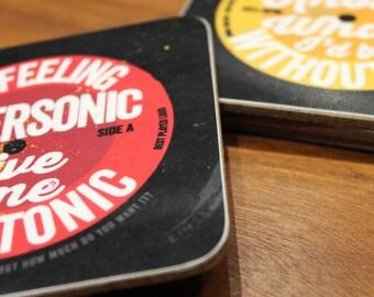 Rock N Roll Lyric Coasters