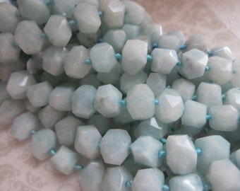 Sky Blue Jade, Gorgeous, Faceted, Chunky, Nugget Beads, Full and Half Strands Available, Pretty Jade in Aquamarine Colors