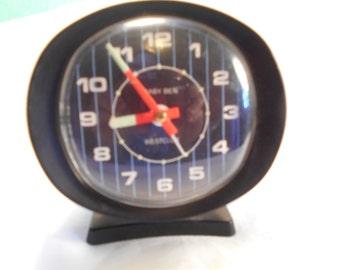 Wind Up Clock-  Vintage Baby Ben Alarm Clock By Westclox- Glow In The Dark Hands
