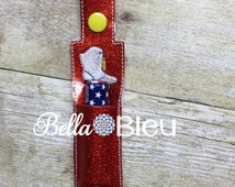 ITH Pattern,  in the hoop Embroidery Design, ITH Key Fob,  ITH Chapstick Holder Drill Team Boot  Tag Fob Keychain machine embroidery