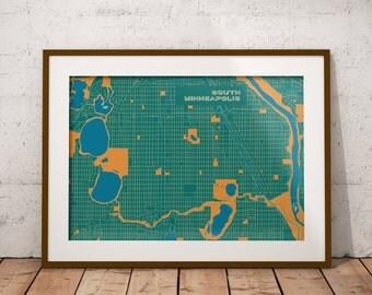 Minneapolis map - South Minneapolis Cristo Rey edition