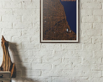 Bears Edition - Chicago Vintage Map print