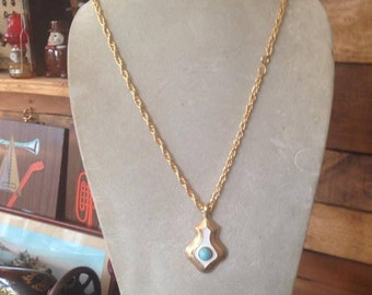 Mid Century Pendant Necklace
