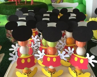 Mickey Mouse Candy Tube Party Favors, mickey mouse party favors, mickey mouse birthday favors, mickey mouse party, mickey mouse  - SET OF 12
