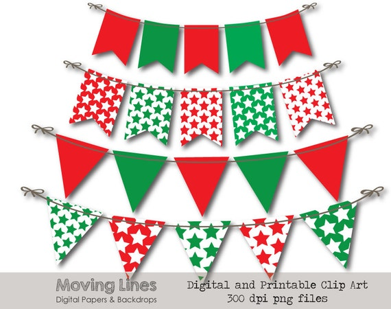 Bunting Banner Party Decor Triangle Flag Banner Clip Art