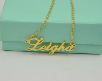 Name necklace gold-Personalized script name necklace-any name jewelry-custom handmade gift
