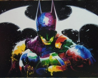"""Batman painting oil painting on canvas 36""""X48"""""""