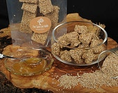 Sesame Bars Handmade, Nougat with sesame and honey, School snack, Pasteli, Honey snack, Sesame party, A treat You can't resist SPECIAL PROMO