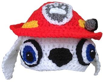 Paw Patrol Marshall Inspired Hand Crocheted Hat