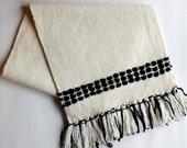 Handwoven Table Runner, Modern Table Linens, Woven Wool Runner