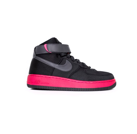 02cb61723be4 durable service NIKE air force 1 high womens satin black pink shoes by  StGARBAGE
