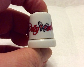 Vintage DollyWood thimble souvenir. Free ship to US.