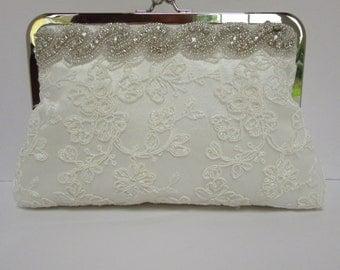 Wedding clutch bag, diamante bag, glitzy bag, rhinestone bag