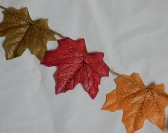 Fall wedding. Autumn wedding. Autumn/Fall Leaf Garland. Autum leaves decoration.autumn/ fall bunting. Autumn/fall banner