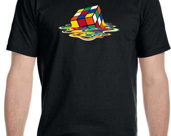 Children, Melting Rubik's Cube T-Shirt As seen on The Big Bang Theory!