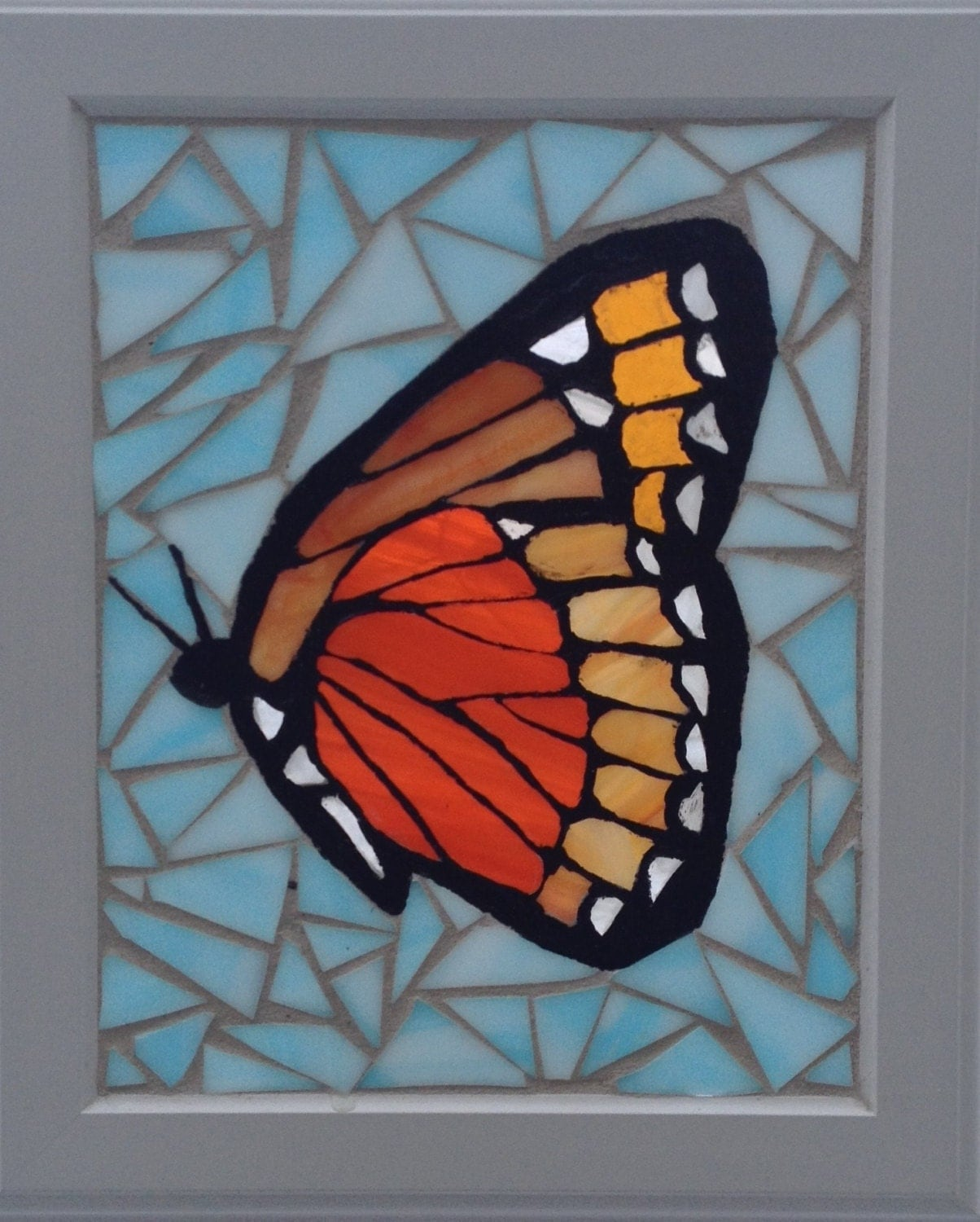 Monarch Butterfly Stained Glass Mosaic By Niagaraglassmosaics
