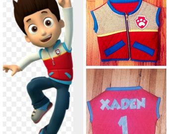 Paw Patrol Ryder Vest! Personalized!!!