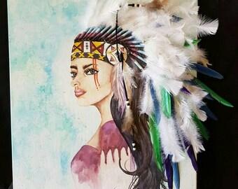 """Pride 16""""x24"""" multi media on canvas"""