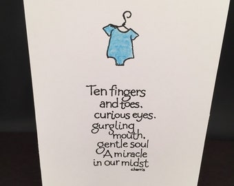 Tiny Toes New Baby Boy Card