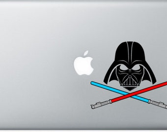 Darth Vader with Crossed Lightsabers (Star Wars) Laptop Decal