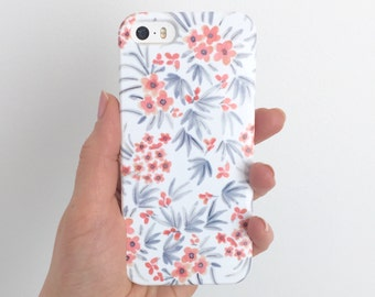 Floral Phone Case Floral iPhone 6s Case Mini Daisy Watercolor iPhone 7 Plus Flower Samsung G Case Samsung Galaxy S7 Cover floral phone cover