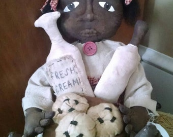 Cookies and cream black doll