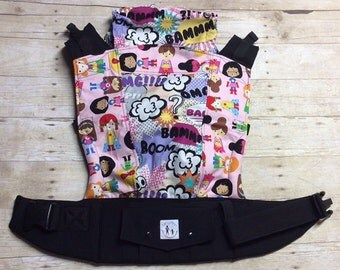 "Ready to Ship - Juicy Ann Soft Structured Baby Carrier SSC: ""Supergirl"" Mash Up"