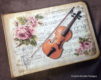 Vintage Music Guest Book, Memory Album Journal - One only and ready to ship.