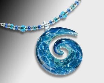Blown Glass Jewelry-Spiral Necklace