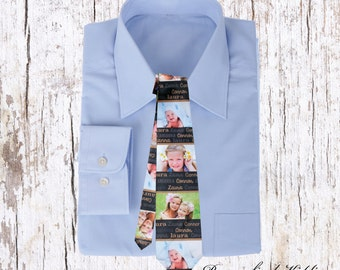 Personalized photo tie, fathers day gifts, uncle gifts, mens ties, custom photo tie, mens necktie for uncles, dad, birthday gifts,
